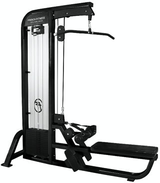 French Fitness FFB Black Lat Pull Down / Low Row Image