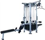 French Fitness FFS Silver 4 Stack Multi Jungle Gym Image