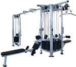 French Fitness FFS Silver 5 Stack Multi Jungle Gym Image