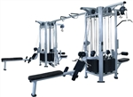 French Fitness Silver FFS 8 Stack Multi Jungle Gym Image