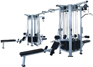 French Fitness FFS Silver 8 Stack Multi Jungle Gym Image