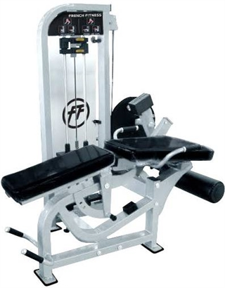 French Fitness FFS Silver Prone Leg Curl / Leg Extension Image