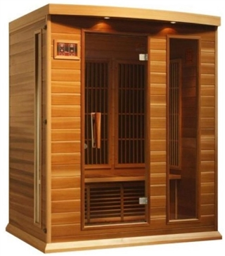 GoldenDesigns MX-K306-01 Red Cedar LEMF Maxxus Far IR Sauna | Image