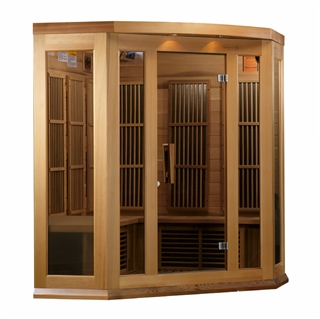 GoldenDesigns MX-K356-01 Red Cedar LEMF Maxxus Far IR Sauna | Image