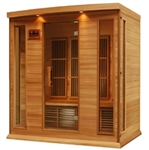 GoldenDesigns MX-K406-01 Red Cedar LEMF Maxxus Far IR Sauna | Image