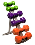 Body Solid GDR10 Vinyl Dumbbell Rack Image