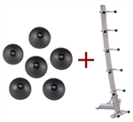 Body Solid BSTHB Tools Slam Balls w/Rack Image