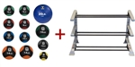 Body-Solid Tools BSTMB Medicine Ball Set (4-20) w/Rack Image