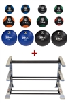 Body-Solid Tools BSTMB Medicine Ball Set (6-30) w/Rack Image