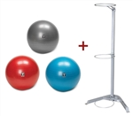 Body-Solid BSTSB Exercise Stability Ball Set w/Rack Image