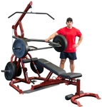 Body-Solid GLGS100P4 Corner Leverage Gym Package Image