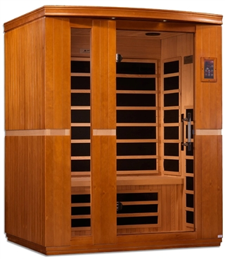 "GoldenDesigns DYN-6336-01 Dynamic ""Lugano"" Low EMF Far Infrared Sauna 