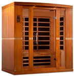 "GoldenDesigns DYN-6440-01 Dynamic ""Bergamo"" Low EMF Far Infrared Sauna 