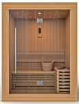 "Golden Designs GDI-7289-01 ""Sundsvall Edition"" Traditional Steam Sauna - Canadian Red Cedar 
