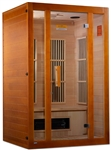 "GoldenDesigns MX-J206-02S Maxxus ""Aspen"" Dual Tech Low EMF FAR IR Sauna 