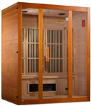 "GoldenDesigns MX-J306-02S Maxxus ""Alpine"" Dual Techology Low EMF FAR IR Sauna 