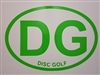 DG Disc Golf Window Decal