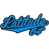 Latitude 64 Cursive Iron On Patch