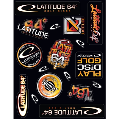Latitude 64 Sticker Sheet