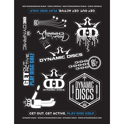 Dynamic Discs Sticker Sheet