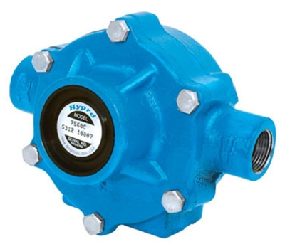 "7560C-R Hypro Cast Iron 8-Roller Pump with 15/16"" Solid Shaft Clockwise Rotation"