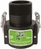 "SAF200B TerreMax Safety Camlock 2"" Female Coupler x 2"" Male NPT"