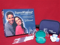 Professional at home teeth whitening kit includes custom trays and teeth whitening gel