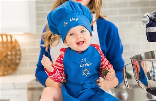 Christy Carlson Romano's Yummy Collection - Hanukkah Apron & Chef Hat Set