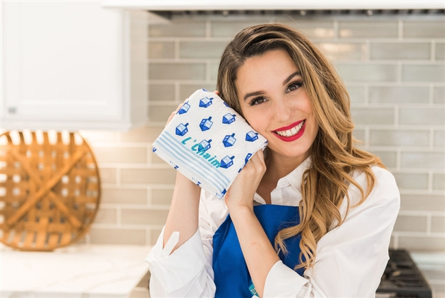Christy Carlson Romano's Yummy Collection - Hanukkah Kitchen Towels - Set of 2