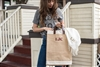 Lily Collins' Gratitude Tote inspired and designed by the foster youth of Stepping Forward Los Angeles