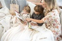 Molly Sims collaboration with Rachel Miriam featuring the Sparkle Collection Blanket
