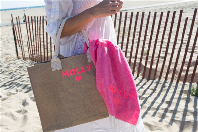 MollyxRM Matching Tote & Throw Set