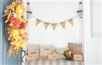 Molly Sims collaboration with Rachel Miriam featuring the Sparkle Party Party Banner
