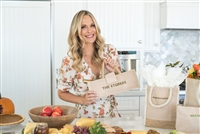 Molly Sims collaboration with Rachel Miriam featuring the Sparkle Party Wine Tote
