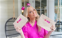 Molly Sims collaboration with Rachel Miriam featuring the Sweetheart Collection Cosmetic Bags
