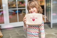 Molly Sims collaboration with Rachel Miriam featuring the Sweetheart Collection Dopp Kit