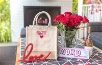 Molly Sims collaboration with Rachel Miriam featuring the Sweetheart Collection Mini Tote