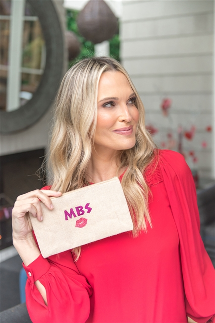 Molly Sims collaboration with Rachel Miriam featuring the Sweetheart Collection Zipper Pouch