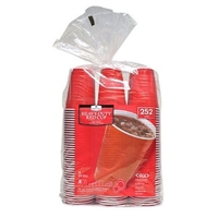 Red Plastic Cups 18oz, 252pk