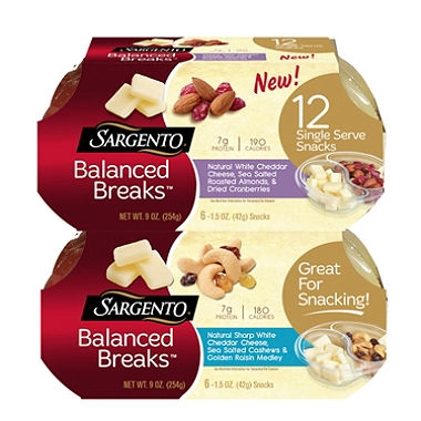 Sargento Balanced Breaks (fruit, nut, cheese)