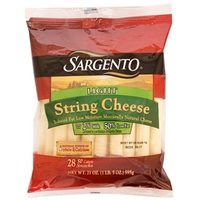 Sargento String Cheese, 0.75oz, 28ct