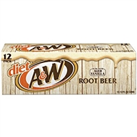 A&W Root Beer Diet, 12 oz, 12 cans