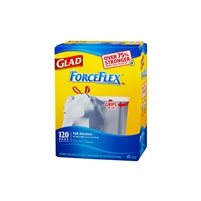ForceFlex Trash Bags, 13 Gal, 120 ct