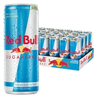 Red Bull Sugar Free 8 oz, 24pk