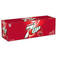 Cherry 7 Up 12oz cans 12 pack