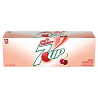 Diet Cherry 7 Up 12oz cans 12 pack