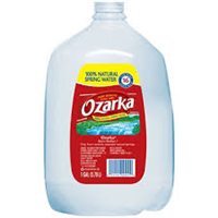 Ozarka Spring Water 6 pack,  1 Gallon Jugs