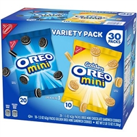 Mini Oreo Sandwich Cookies Variety Pack 30 ct