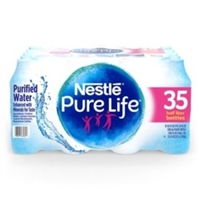 Nestle Purelife Bottled Water 16oz, 35 bottles
