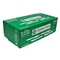 Plastic Knives White, 600pk